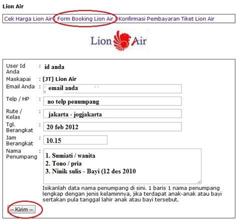 email lion air tutorial cara booking tiket pesawat agen tiket online