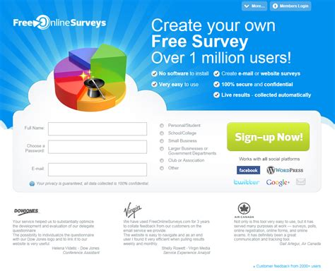 free online home page design new home page design for freeonlinesurveys com survey