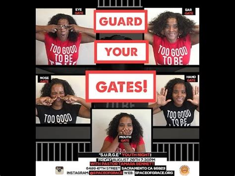 guard your gates the guard your gates to high productivity books youth surge quot guard your gates eye gate quot pastor