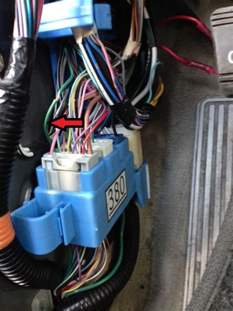brake light wire location  driver kick panel