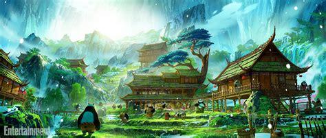 anime village wallpaper look dreamworks animation releases kung fu panda 3