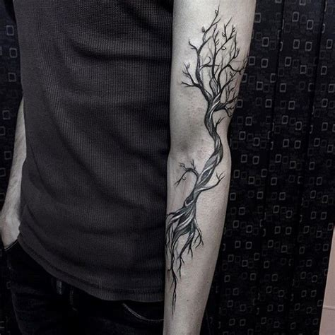 tattoos for men forarm 60 forearm tree designs for forest ink ideas