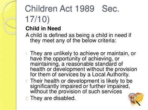 section 17 children s act 1989 unit 2 1 employability pp an introduction to the role of