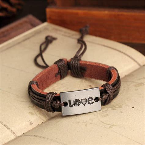 Handmade Bracelets Australia - handmade pu leather bracelet harmony tribal bohemian