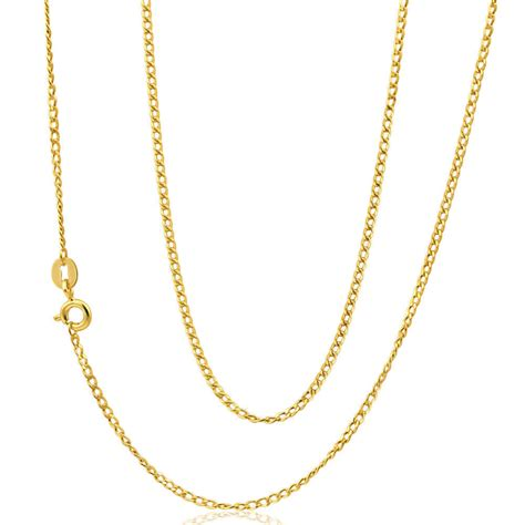 22 inch 9ct gold curb chain necklace 3 grams 0402