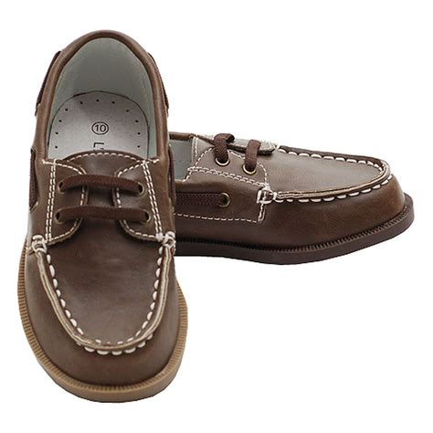 toddler boys 7 brown synthetic top stitch casual loafer