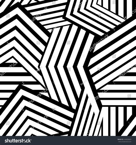 Line Black Mix seamless stripped geometric background black white stock