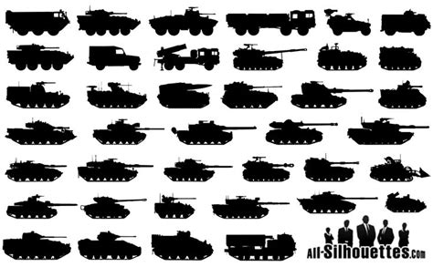 unique military tattoo designs vector cdr 187 free vector 40 military tanks silhouettes icons pinterest