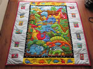 patchymags dinosaur baby cot quilt