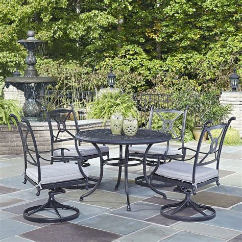 biscayne cast aluminum patio furniture home styles biscayne 48 in bronze 5 patio
