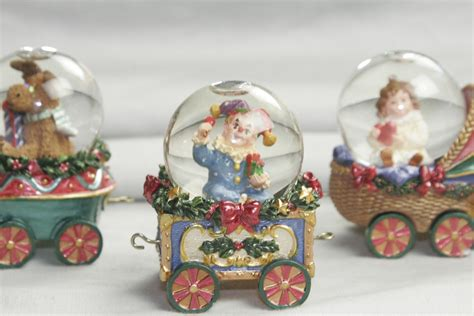 kirkland christmas holiday mini water globe train set
