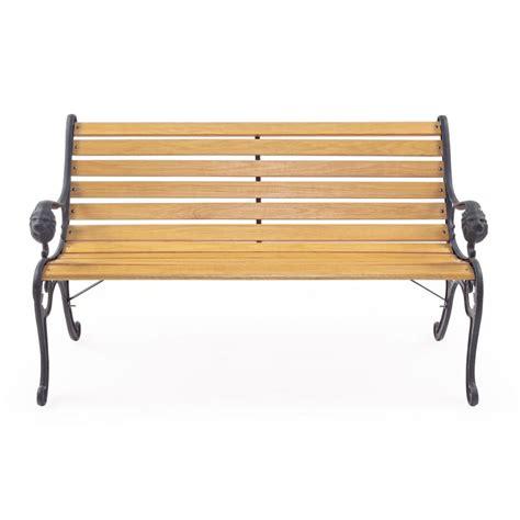 panchina esterno panchina da esterno in legno e ghisa brigros