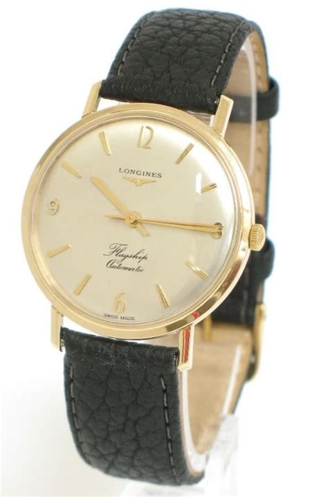 stunning solid 9ct gold longines flagship automatic mens