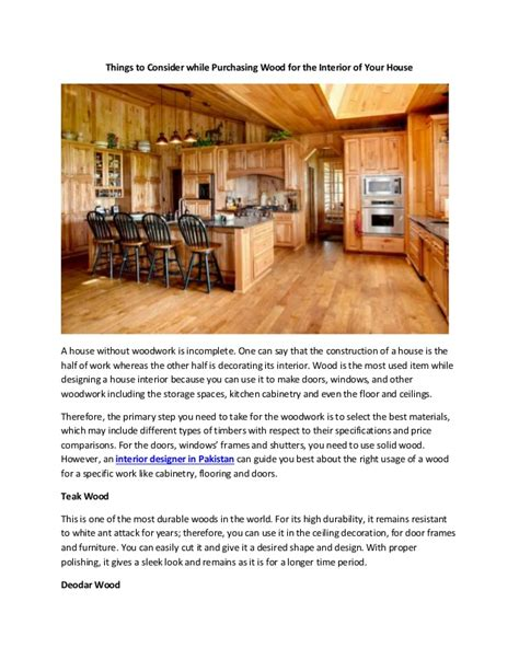 things to consider in getting the contract things to consider while purchasing wood for the interior