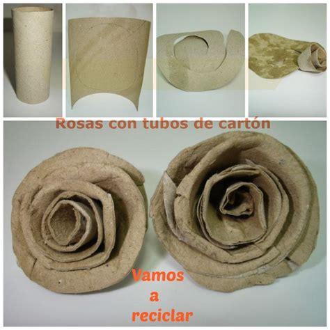 imagenes de flores con tubos de papel bao rosas con tubos de papel higi 233 nico manualidades