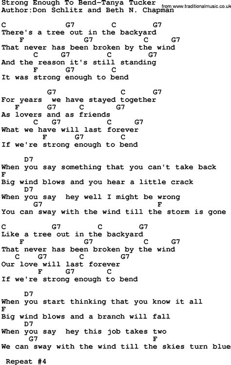 New Single Enough Of Songs by Country Strong Enough To Bend Tucker Lyrics