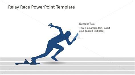 running powerpoint template runner starting the race powerpoint slidemodel