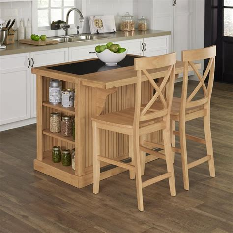 maple kitchen island home styles nantucket maple kitchen island with seating 5055 948g the home depot