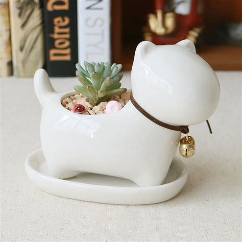 Cute Animal Potted Flowers Gardening Succulents Planter Small White Planter