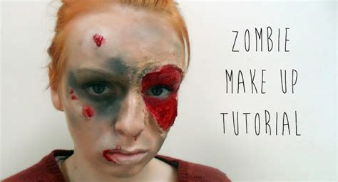 zombie mask tutorial a model in london halloween zombie make up tutorial