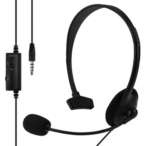 Original Mono Headset Wired Earphone For Ps4 Headphone Headset Murah wired overear ps4 playstation 4 headset mono