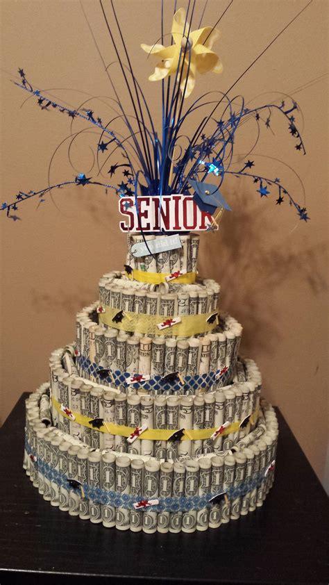 senior graduation money cake decorations graduation decorations money birthday cake