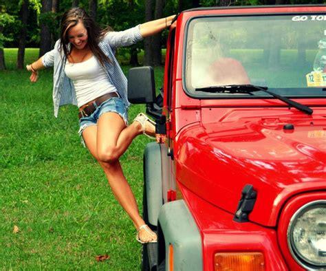 jeep wrangler girls peeps and jeeps red wrangler tj jeepfan com