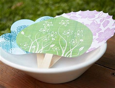 Handmade Paper Fans - paper fans with our free downloadable fan templates