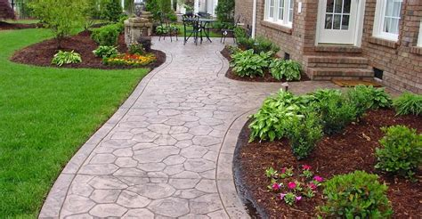 Inexpensive Patio Options by Concrete Sidewalk Design Decorative Options For A