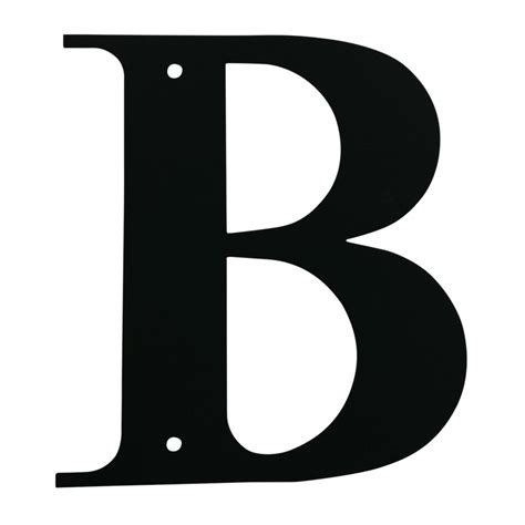 B For wrought iron letter b medium