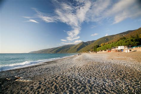russian beach the beach at gagra now