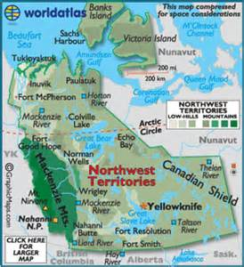 map of northwest territory canada northwest territories map geography of northwest