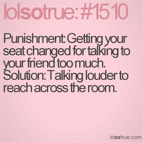 punishment   seat changed  talking