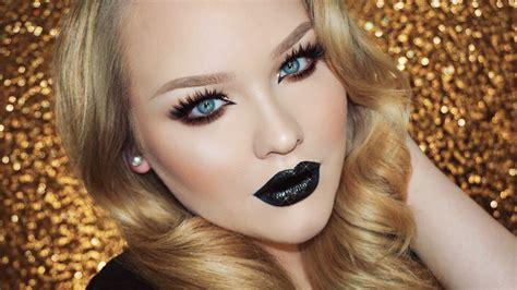 nikki tutorial eyeliner glam glitter grunge makeup tutorial nikkietutorials