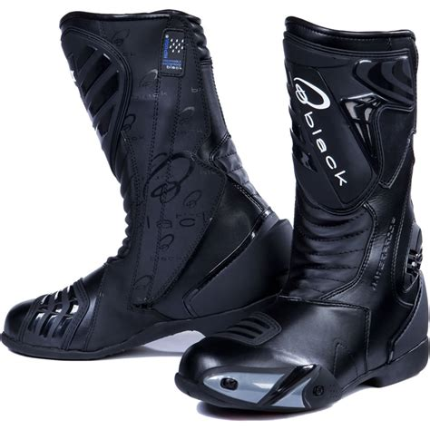 motorcycle track boots black zero waterproof sport racing motorcycle motorbike
