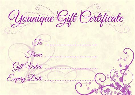 lipsense gift card template gift certificate blank templates best professional