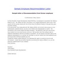 template for letter of recommendation from employer recommendation letter former employee the letter sle