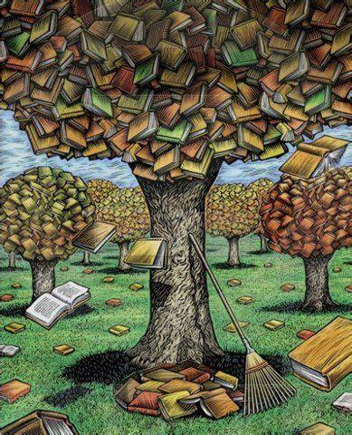 libro autumn is here library autumn tree books biblioteca oto 241 al 225 rbol libros ilustraci 243 n de tim foley