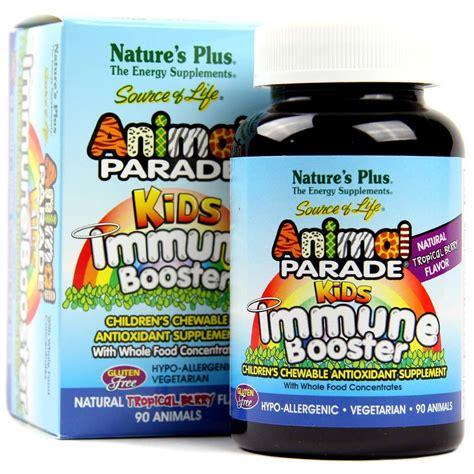 Natures Plus Animal Parade Immune Booster 90s nature s plus animal parade immune booster berry 90 chews evitamins