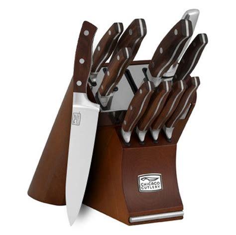 Chicago Cutlery Walnut Signature Forged Knife Block Set