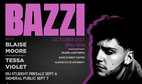 bazzi cd bazzi to headline upb fall concert news videtteonline