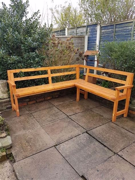 corner patio bench corner garden bench wood 5 seater weather resistant patio