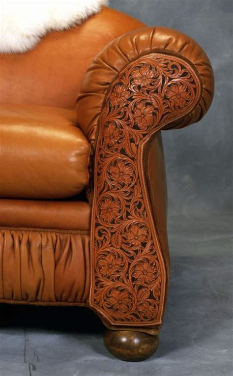 Tooled Leather Sofa Sofa Rustic Artistry