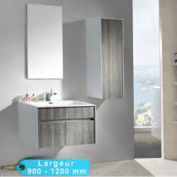 meuble de salle de bain suspendu astree 90 et 120 avec