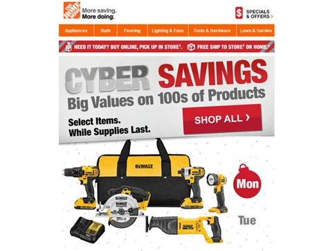 shop all the home depot cyber monday deals