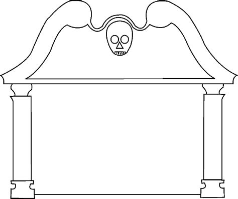 Headstone Templates by Gravestone Template Clipart Best