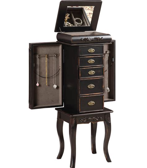 standing jewelry armoires standing jewelry armoire morris in jewelry armoires