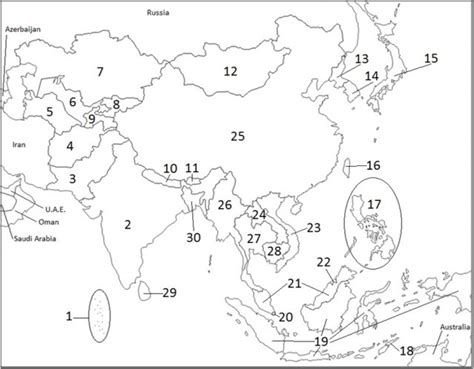 fill in the blank map of asia april 2015 mr cozart