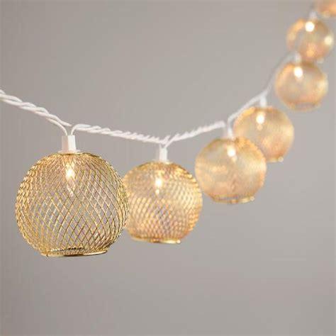 globe bulb string lights gold wire globe 10 bulb string lights world market