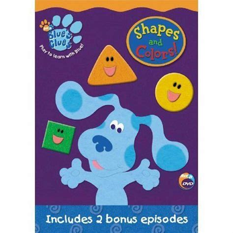 shapes and colors band blues clues shapes colors dvd steve burns